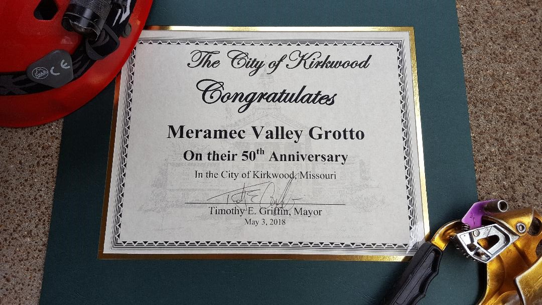City of Kirkwood and the Meramec Valley Grotto.  50 years!