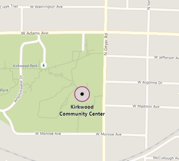Map of Kirkwood Community Center