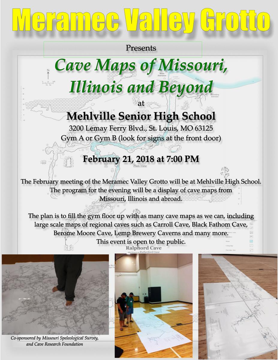 map night mehlville St. Louis COunty cave